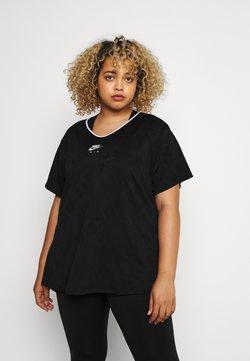 Nike Performance - W NK AIR  - Camiseta estampada - black/silver