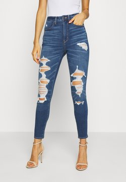 American Eagle - Jegging - worn out blue