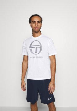 sergio tacchini - NEW ELBOW - T-shirt med print - white/navy
