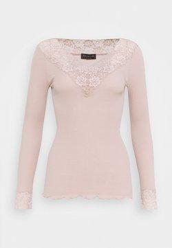 Rosemunde - ORGANIC VNECK REGULAR - Bluzka z długim rękawem - vintage powder
