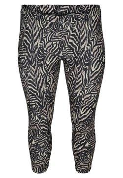 Zizzi - Leggings - Hosen - black zebra aop