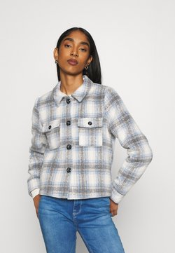 ONLY - ONLLOU SHORT CHECK JACKET - Leichte Jacke - pumice stone/allure
