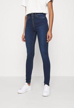 Noisy May - NMCALLIE ZIP  - Jeans Skinny - dark blue denim