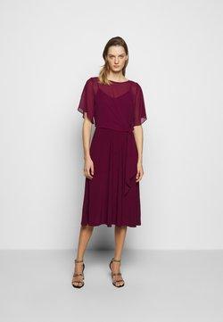 Lauren Ralph Lauren - MID WEIGHT DRESS COMBO - Cocktailkleid/festliches Kleid - exotic ruby
