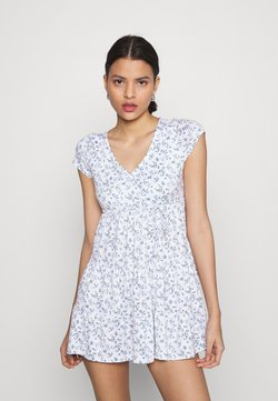 Hollister Co. - DRESS - Jerseykleid - white