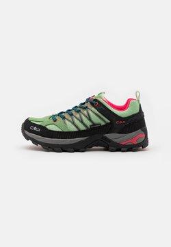 CMP - RIGEL LOW TREKKING SHOE WP - Hiking shoes - leaf/petrol