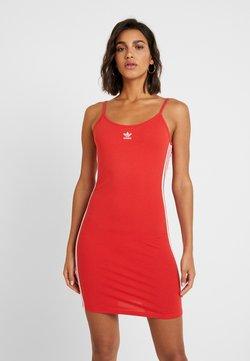 adidas Originals - TANK DRESS - Robe fourreau - lush red/white