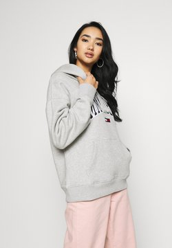 Tommy Jeans - CLASSICS LOGO HOODIE - Jersey con capucha - grey