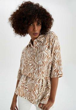 DeFacto - REGULAR FIT - Hemdbluse - brown