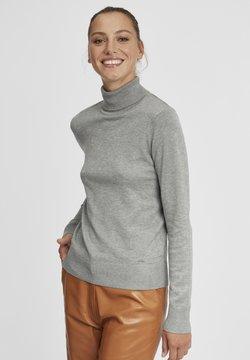 Oxmo - WINA - Strickpullover - medium grey melange