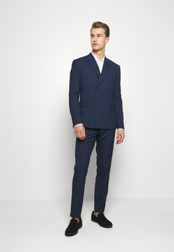 Isaac Dewhirst - CHECK SUIT DOUBLE BREASTED - Anzug - dark blue