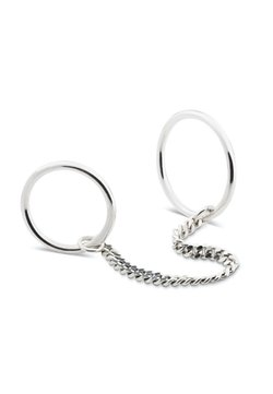 No More - CHAINED RINGS - Ring - silver