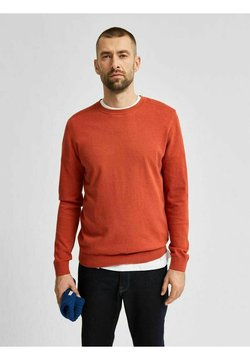 Selected Homme - SLHBERG CREW NECK - Maglione - ketchup