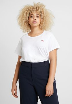 Levi's® Plus - PERFECT CREW - Printtipaita - white