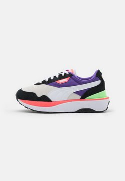 Puma - CRUISE RIDER SILK ROAD - Matalavartiset tennarit - black/white/ignite pink