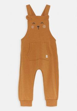 Lindex - TROUSERS BIB BEAR UNISEX - Tuinbroek - dusty brown