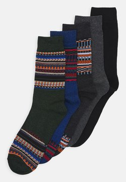 Jack & Jones - JACWINTER PATTERN SOCKS 5 PACK - Sokken - dark grey melange