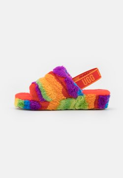 UGG - FLUFF YEAH SLIDE CALI COLLAGE - Hausschuh - rainbow