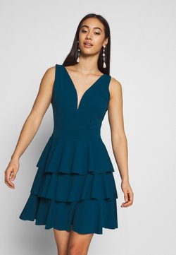 WAL G. - LAYERED MINI DRES - Cocktailkleid/festliches Kleid - teal blue