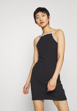 Calvin Klein Jeans - LOGO TRIM TANK DRESS - Jerseykleid - black