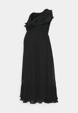 MAMALICIOUS - MLTAYLOR WOVEN MIDI DRESS - Robe d'été - black