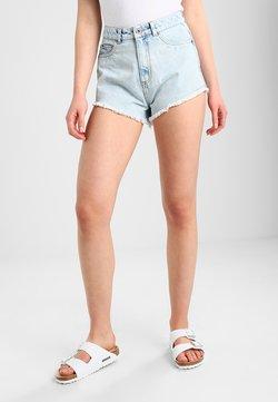 Urban Classics - LADIES HOTPANTS - Jeans Shorts - blue bleached