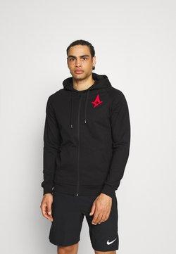 Hummel - ASTRALIS ZIP HOODIE - Zip-up hoodie - black