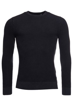 Superdry - ACADEMY  - Maglione - washed carbon black
