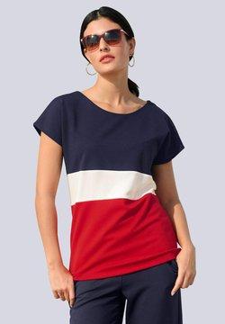 Alba Moda - T-Shirt print - marineblau rot weiß
