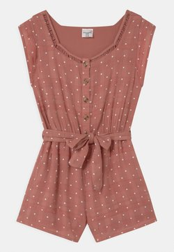 Abercrombie & Fitch - BACK RUFFLE ROMPER - Jumpsuit - pink