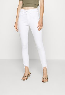 American Eagle - SUPER RISE JEGGING CROP - Jeggings - bright white