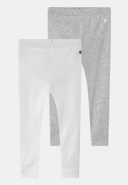 Petit Bateau - 2 PACK UNISEX - Leggings - Hosen - white/grey/multi coloured