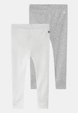 Petit Bateau - 2 PACK UNISEX - Leggings - Hosen - white/grey/multi coloured