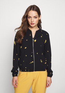 ONLY - ONLALISA LIFE BOMBER JACKET - Bomber Jacket - black/yellow