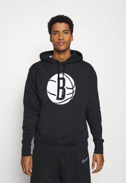 Nike Performance - NBA BROOKLYN NETS LOGO HOODIE - Pelipaita - black/white