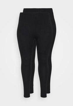 Missguided Plus - 2 PACK - Leggings - Trousers - black