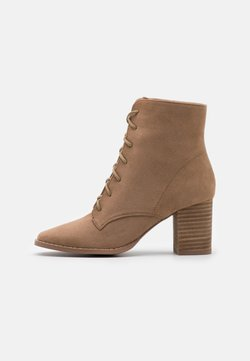 Rubi Shoes by Cotton On - MARCELLE LACE UP - Korte laarzen - taupe