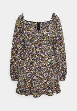 Missguided - MILKMAID SKATER DRESS FLORAL - Freizeitkleid - purple