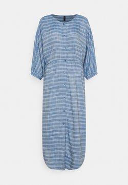 YAS - YASELMA LONG SHIRT DRESS - Freizeitkleid - cashmere blue/white