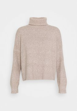 Noisy May - NMIAN ROLL NECK  - Strikkegenser - beige