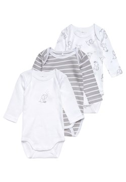 Name it - NBNBODY ALLOY BABY 3 PACK - Body - white/grey