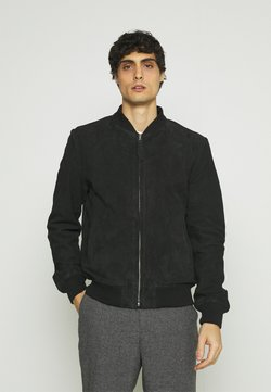 Schott - Leather jacket - navy
