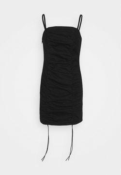 Topshop Petite - RUCHED BODYCON DRESS - Juhlamekko - black