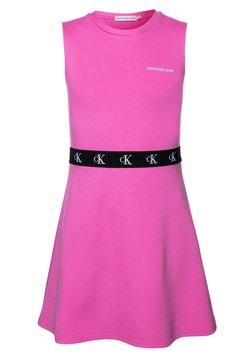 Calvin Klein Jeans - MONOGRAM PUNTO SKATER DRESS - Robe en jersey - pink