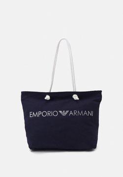 Emporio Armani - BEACH WOMANS SHOPPING BAG - Beach accessory - marine/marine