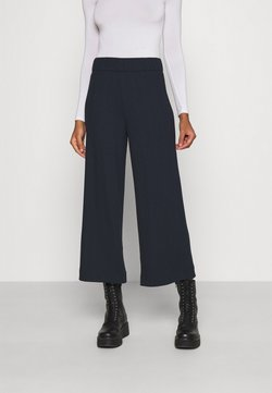 Monki - CILLA TROUSERS - Stoffhose - blue dark