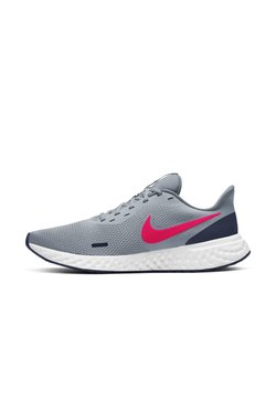 Nike Performance - REVOLUTION 5 - Zapatillas de running neutras - Obsidian Mist/Midnight Navy/White/Laser Crimson