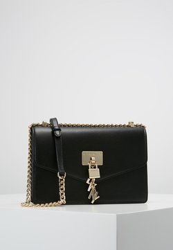 DKNY - ELISSA SHOULDER - Umhängetasche - black/gold