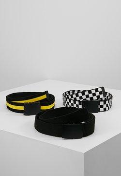 Urban Classics - 3 PACK - Bælter - black/white/yellow