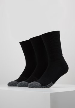 Under Armour - HEATGEAR CREW 3 PACK - Sportsocken - black/steel